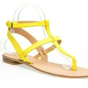 Ann Taylor Shoes - LOFT Strappy Thong Yellow Womens Sandals 9M